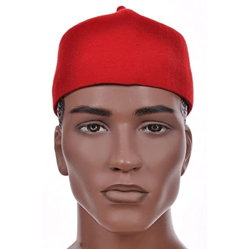 c736e6b4b21 Buy Dupsie s Red African Cap Igbo Ozo Hat with Ubuy UAE. B01AB4I47A