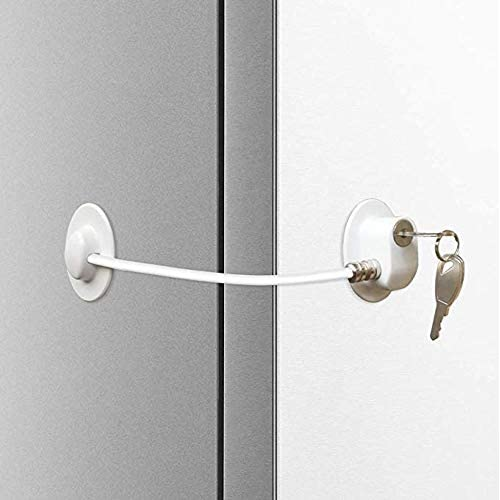 Child Safety Lock Latch for Cabinet with 3M Adhesive HomySnug 10 Pack Baby Strap Cupboard Lock