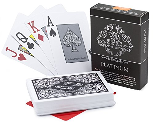 Buy Bullets Playing Cards Waterproof Platinum Plastic Poker Cards With Texas Holdem Cut Card Online In Uae B07d9jnyxb