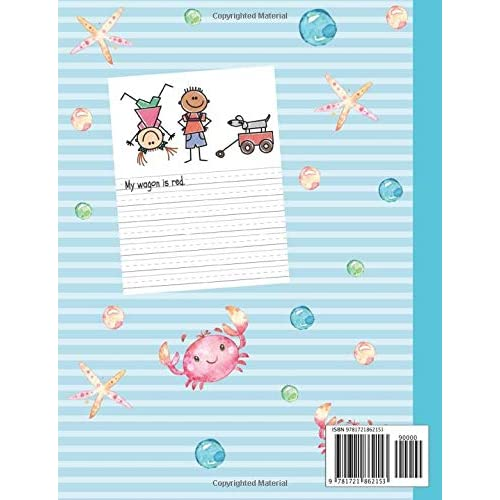Primary Story Journal Composition Book Early Childhood to Kindergarten Cartoon Dinosaurs Notebook Grade Level K-2 Draw and Write