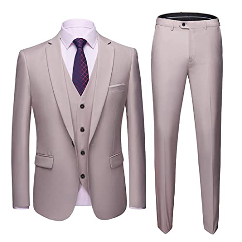 Mens 3-Piece Suit Coat SFE Men/'s Suit Slim Blazer Business Wedding Party Jacket Vest /& Pants
