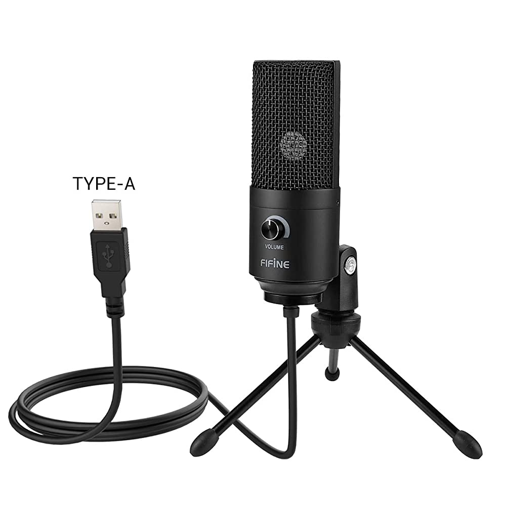 buy usb microphone fifine metal condenser recording microphone for laptop mac or windows. Black Bedroom Furniture Sets. Home Design Ideas