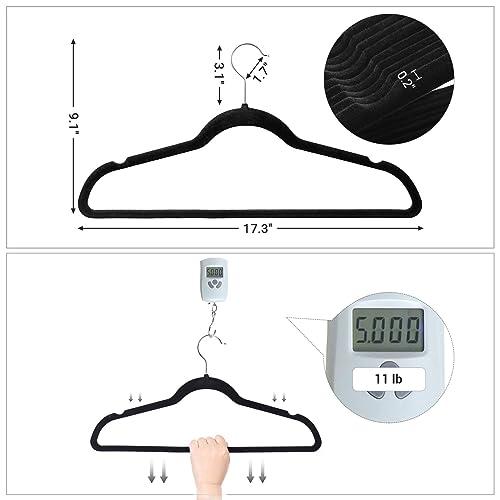 30-Pack Basics Velvet Shirt//Dress Hangers Black