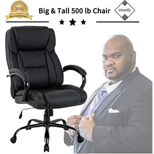 Big Tall Heavy Duty Executive Chair 500 Lbs Heavyweight Rated