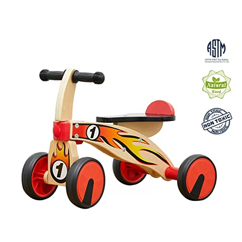 Top Bright Kids First Outdoor Ride On Scooter Wooden Baby Balance