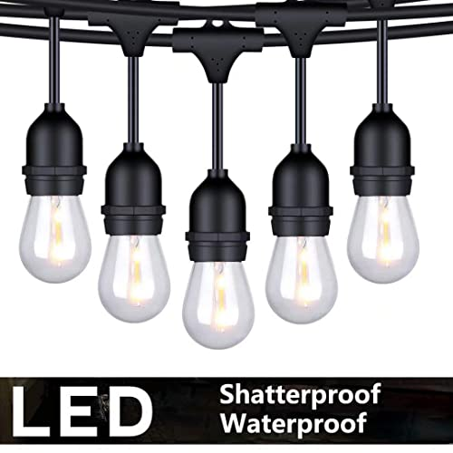 Outdoor Led String Lights 48ft Patio
