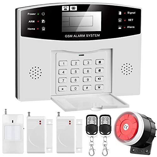 Home Wired GSM Security Burglar Alarm System Automatic Dialing  Remote Control