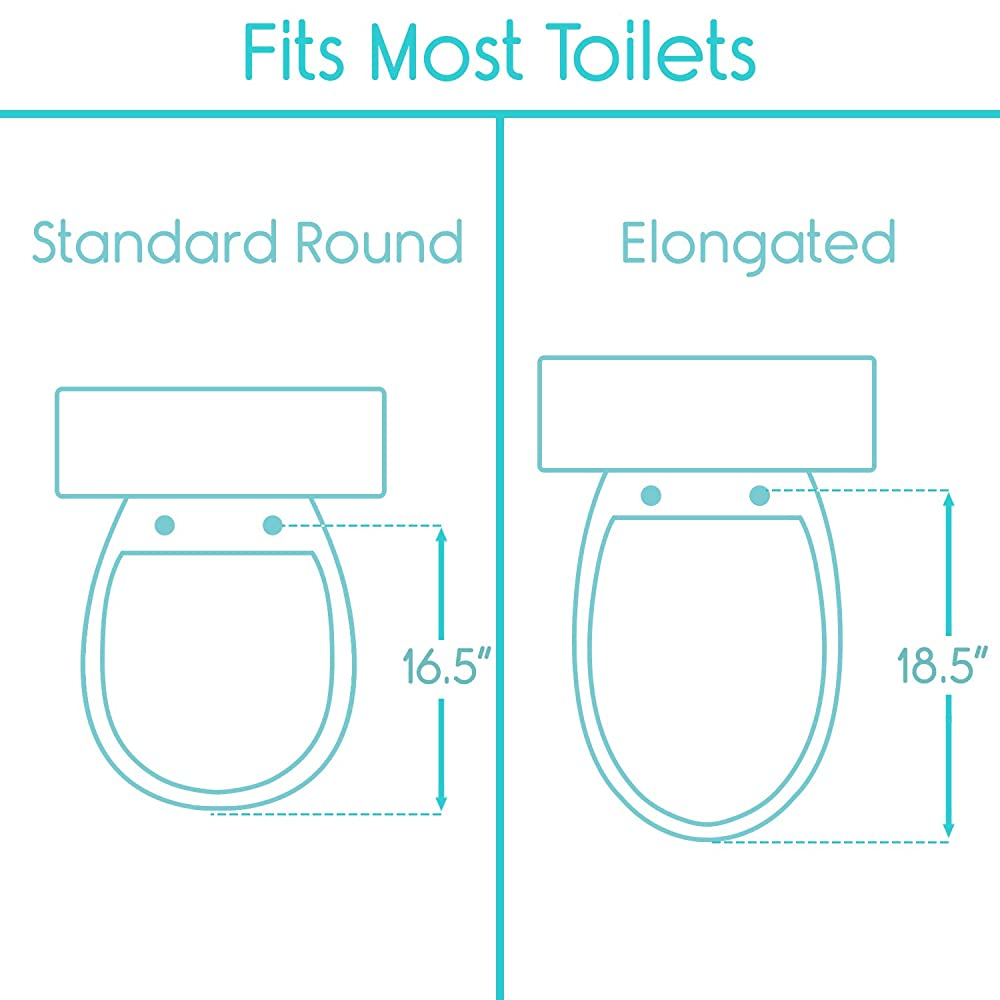 Buy Vive Raised Toilet Seat 5 Portable Elevated Riser