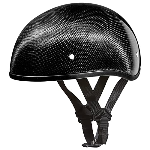 Buy Daytona Helmets Motorcycle Half Helmet Skull Cap Carbon Fiber Wo Visor 100 Dot Approved Online In Uae B007w9onzu