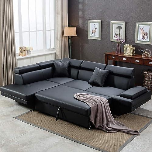 Corner Sofa Bed 2 Piece Modern