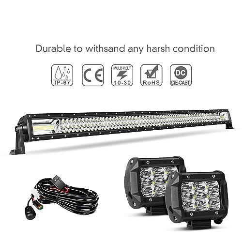 Buy LED Light Bar Kit,EBESTauto 52 Inch LED Bar Wiring