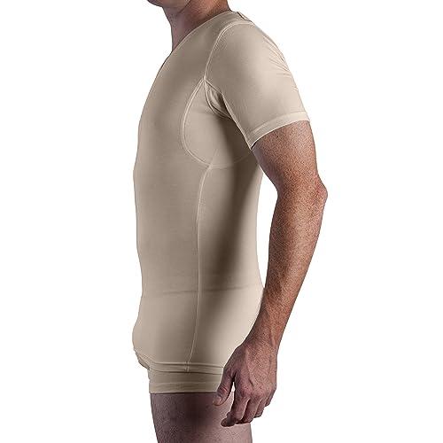Sweatshield Sweat Proof Mens Undershirt MicroModal Crew Neck T Shirt 1-Pk White