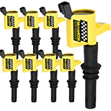 Hummer Workhorse Cadillac UF271 12558693 12556893 Mercruiser Pack of 8 D581 Ignition CoilsUltra High Voltage SQUARE Type for 1999-2007 Chevrolet Silverado Express GMC Sierra Savana