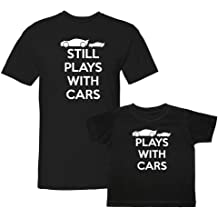9465c373 We Match! Plays with Cars & Still Plays with Cars Matching Adult T-
