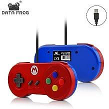 72b7fcf731d Easydeal Data Frog Glossy Case Joystick Gamepad for Nintendo SNES  Controller(Red)