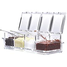 12oz Hard Wood Spice Jar Decorative 2-color Wooden Salt Box With Lid
