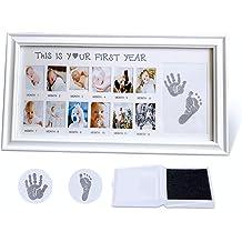 YeahiBaby Baby Casting Kit 3D Plaster Handprints Footprints Baby Shower Hundred Days Hand Foot DIY Keepsake Gifts