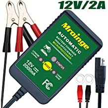 Suuwer 8V//12V 1.5A Automatic Trickle Battery Charger//Maintainer for Car Motorcycle Lawn Mower SLA AGM GEL CELL WET Lead Acid Batteries