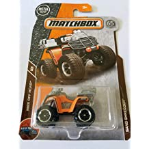 2018 Matchbox Orange Four Wheeler Sand Shredder 4X4 Off Road Custom Key Chain